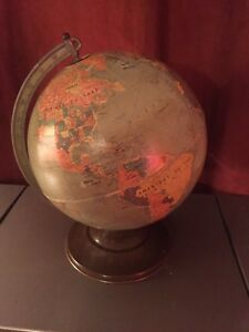 Antique globe terrestre