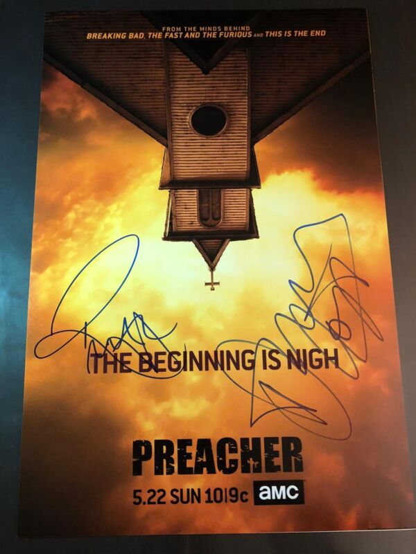 DOMINIC COOPER RUTH NEGGA SIGNED PREACHER PHOTO 12X18 POSTER! AUTOGRAPH