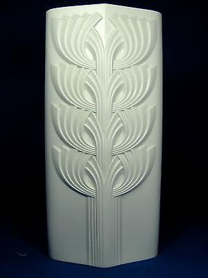 Cool 70´ s design Rosenthal studio linie Relief Porzellan Vase 3533 / 32 white