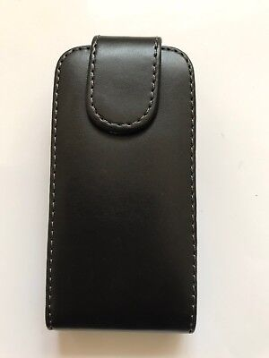 Sony Ericsson Xperia U5 Black leather case Top flip