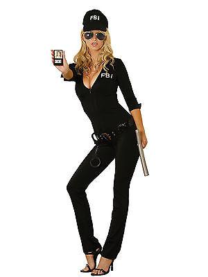 Elegant Moments Sexy FBI Agent 7 Piece Womens Halloween Costume (Fbi Halloween Costumes Women)