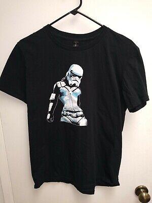 STAR WARS Female Storm Trooper T-Shirt Black - Medium (Female Storm Trooper)