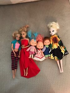Dolls and lots of handmade clothing