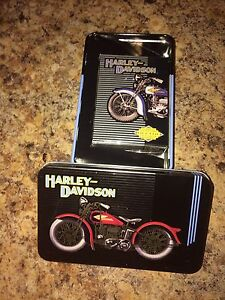 Harley Davidson collector playing cards