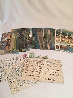 Vintage Lot Of 33 Tichnor & Co Postcards California, Florida, Boston
