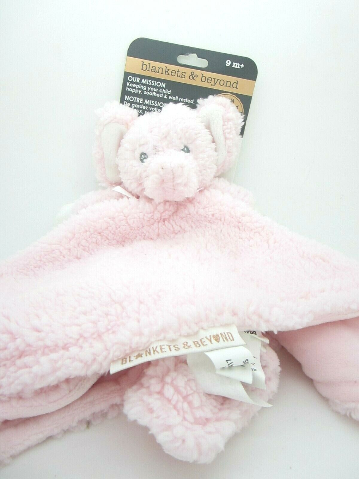 Blankets And Beyond Baby Security Blanket Pink Elephant With Soft Pink Blankie - $16.99