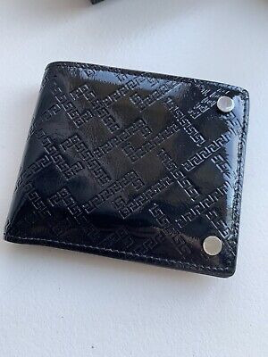 Authentic Mens Versace Wallet Black New. Greek Key. Limited Edition. With Tags.