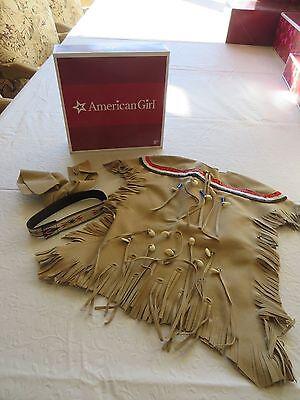 American Girl KAYA ADORNED DEERSKIN DRESS Complete NEW In Box