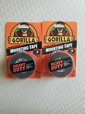 2 Lot Of Gorilla Double Sided Mounting Tape Heavy-duty 1 X 60-in. 2 Packages