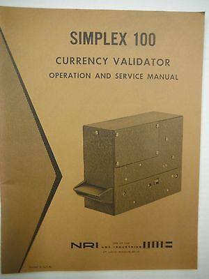 NRI Simplex 100 Currency Validator Operation & Service Manual  VG 1219SM