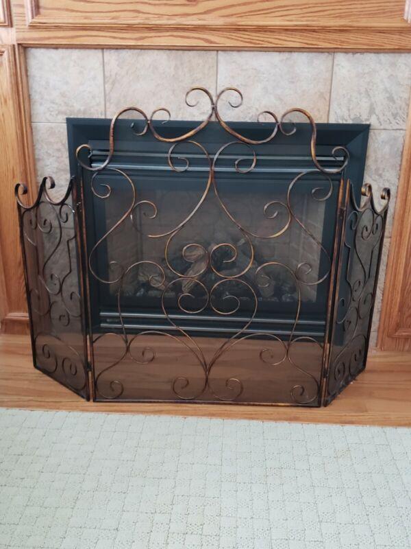 Oriental Metal Fireplace Gate