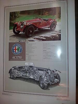 """Alfa Romeo--6C1750--Cutaway AQ Poster--19"""" X 25"""""""