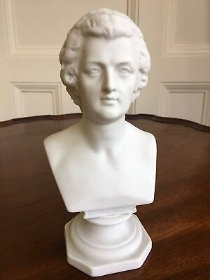 A Parian Bust Of Mozart, c.1880. Impressed Marks, Possibly KPM. 19.5cm.