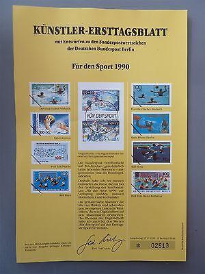 BERLIN KÜNSTLER-ETB 1990/2 864/865 SPORT 530 Stück Mi gest 6.900.-