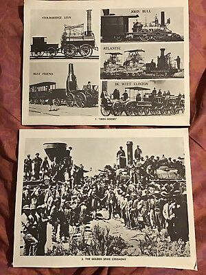 Set Of 16 Railway Poster Pictures From The 1960's