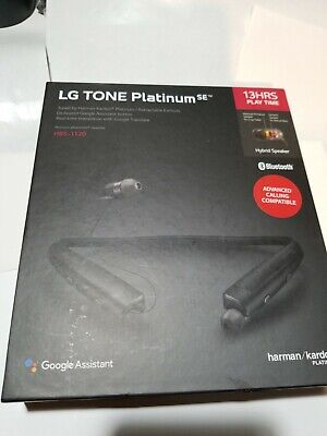 Authentic LG Tone Platinum SE HBS-1120 Wireless Stereo Headset Black Bluetooth