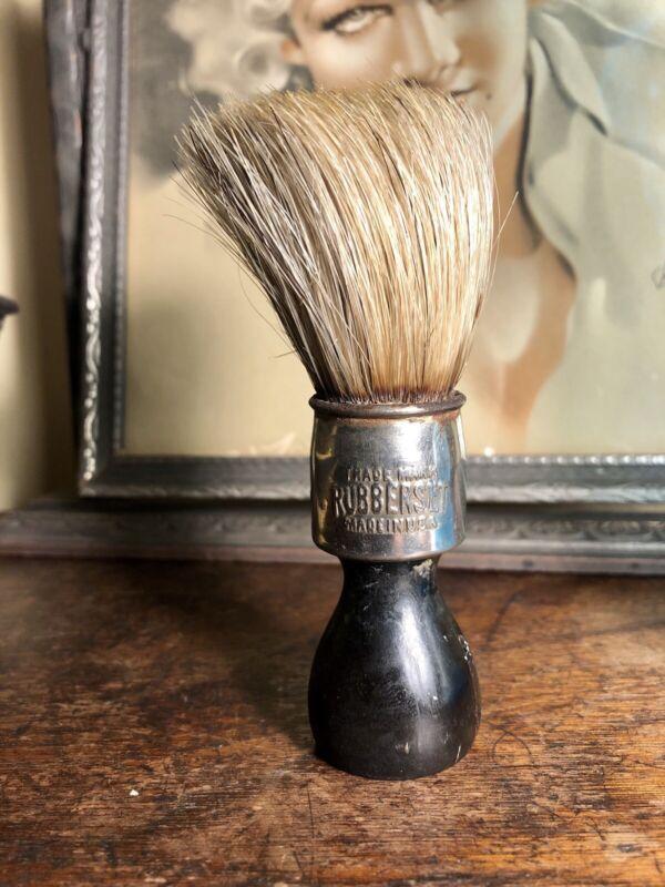 Vintage RUBBERSET Shaving Brush, Wood Handle