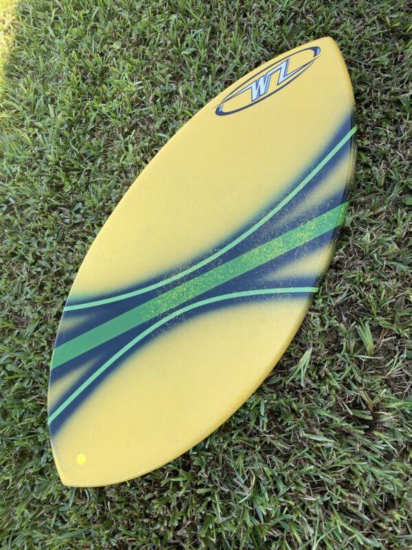 "NEW Wave Zone Edge 42""  Fiberglass Skimboard - BLEM - Yellow Green"