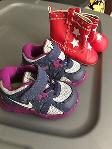 Baby size 3 Nike shoes and cowboy boots