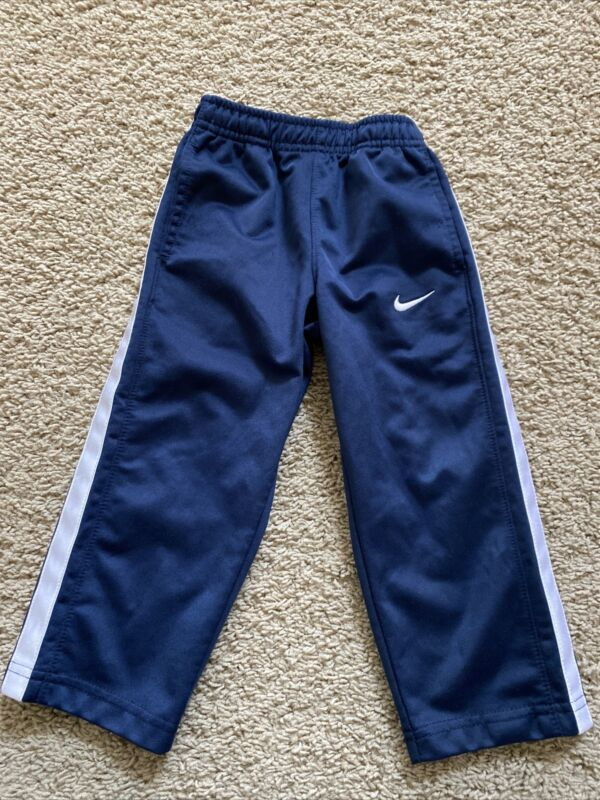 Nike Toddler Boys Size 2T Sports Athletic Sweat Pants Navy White EUC
