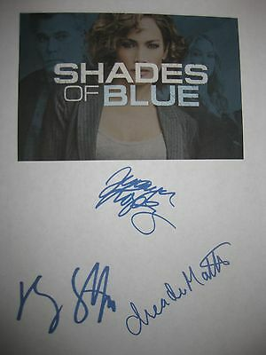 Shades of Blue signed TV script Jennifer Lopez Ray Liotta Drea de Matteo reprint