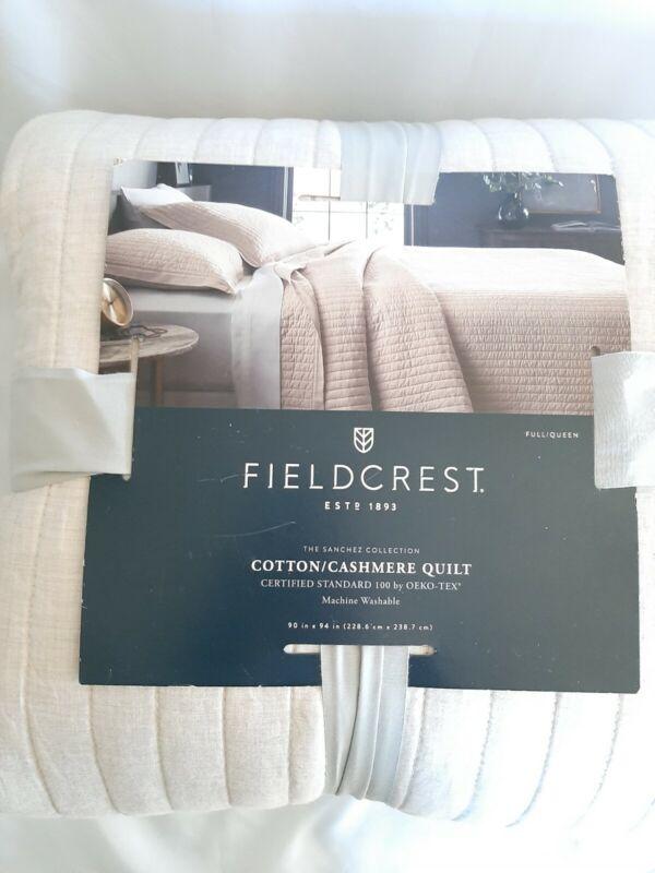 New Cotton/Cashmere Quilt Full/Queen  Pebble