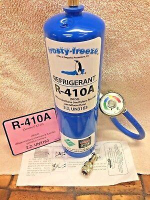R410a Refrigerant 28 Oz. Color Coded Ez Read Gauge Hose Includes Instructions