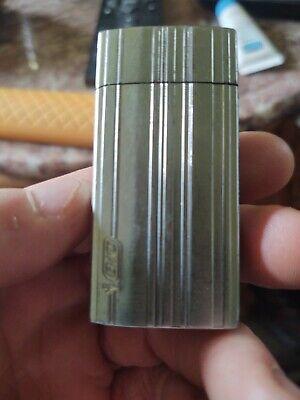 Vtg Silver Retro Cover Case Flip top old Mini B.I.C cigarette Lighter Holder