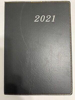 2021 Daily Planner Journal Calendar Organizer Appointment Book Black 7x10