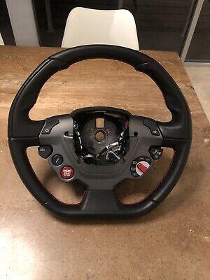 Ferrari 488 Steering wheel. Red Stitching. OEM Equipment.