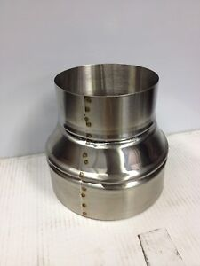 6 Inch To 8 Inch Stove Pipe Stainless Steel Single Wall