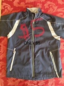 Boys navy jacket size youth large
