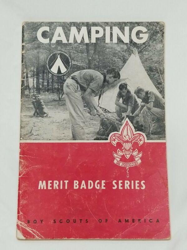 1957 Boy Scout of America BSA Merit Badge Series - CAMPING