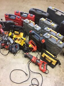 Power tools garage sales.