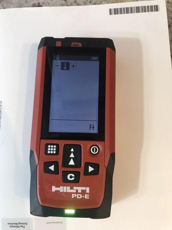 HILTI Laser Range Meter PD-E Great Condition