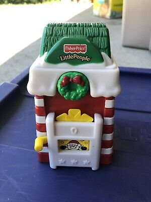 Vintage Fisher Price Little People Christmas Post Office Village House Holiday