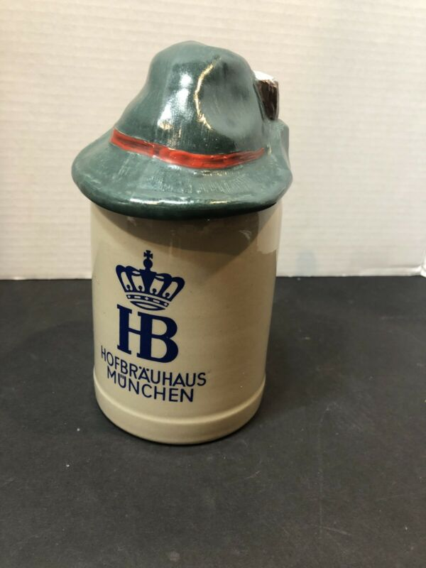 Hofbrauhaus Munchen HB Vintage Beer Stein Mug 0.5L Made In Germany With Hat