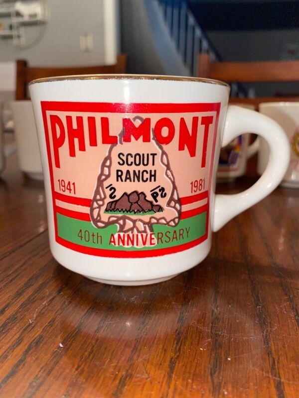 BSA BOY SCOUTS COFFEE MUG PHILMONT TRAINING CENTER 1981 40th Anniversary Ranch