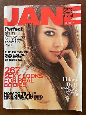 JANE Magazine December 2006 January 2007 Sexy Smart Cool Hilary Duff PMS