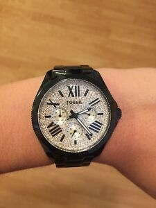 Fossil Women's Black Watch Crystal Face (Perfect Condition)
