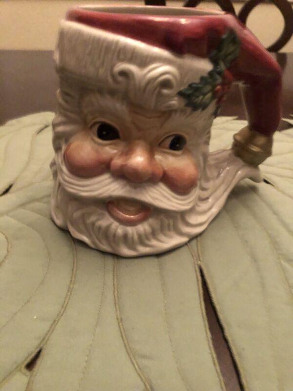 Vintage Fitz and Floyd Omnibus Christmas Santa Mug Holiday Coffee/Hot Cocoa MINT