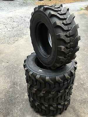 4 New 12-16.5 Carlisle Trac Chief Skid Steer Tires -12x16.5 - Made In Usa