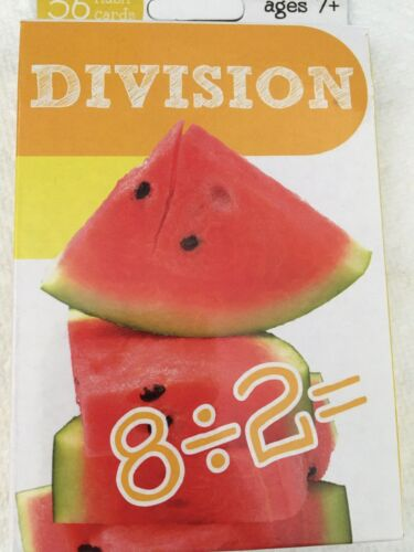 Division Flash Cards 36 Count And Addition 36 Flash Cards