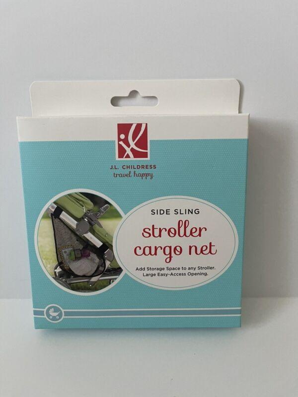 J.L. Childress Side Sling Stroller Mesh Cargo Net Organize New Baby Toddler