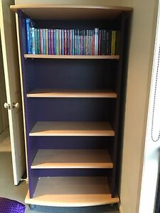 5 Shelf black/beige, sturdy, strong, bookcase, as new Coomera Gold Coast North Preview