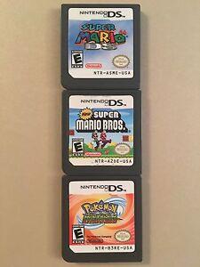 Nintendo DS game bundle (Mario/Pokemon)