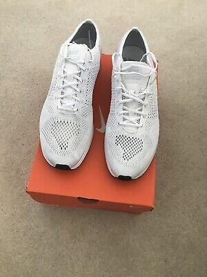 Nike Flyknit Racer Triple White BNWT UK11 US12
