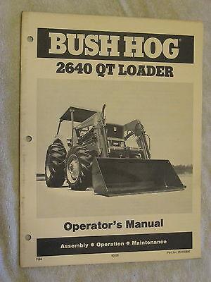 Bush Hog 2640 Qt Loader Operators Manual