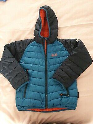 Boys Jack Wolfskin Coat Size 128cm (Age 7-8)