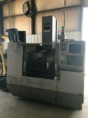 Haas Vf-0 Cnc Vmc With Tool Changer 4th Axis Chip Auger And Cat 40 Tooling 1995